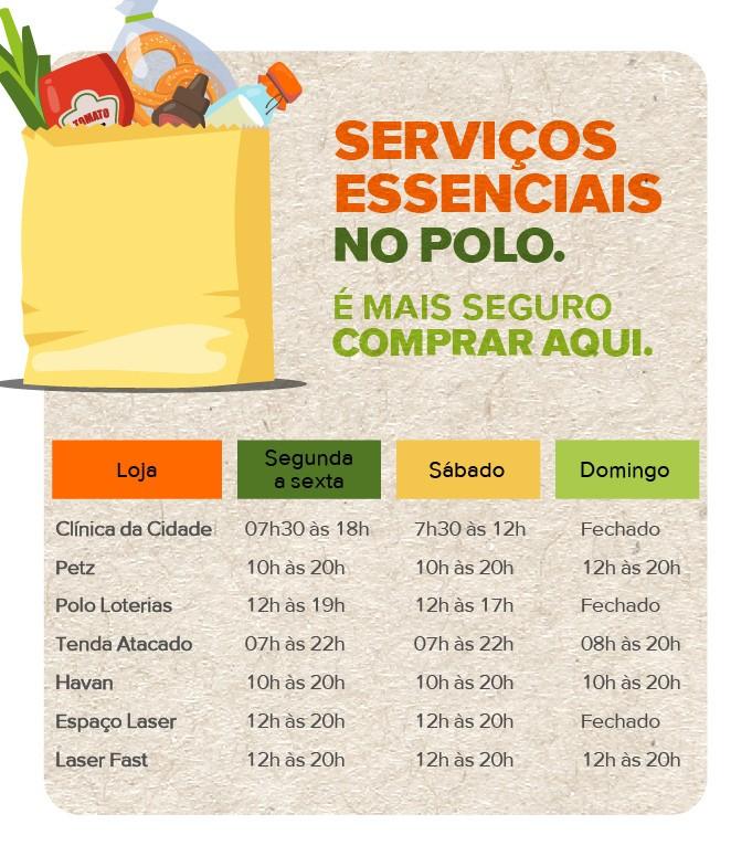 Servicos essenciais Polo Shopping Indaiatuba
